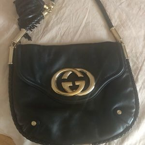 Gucci Britt Tassel Leather Bag